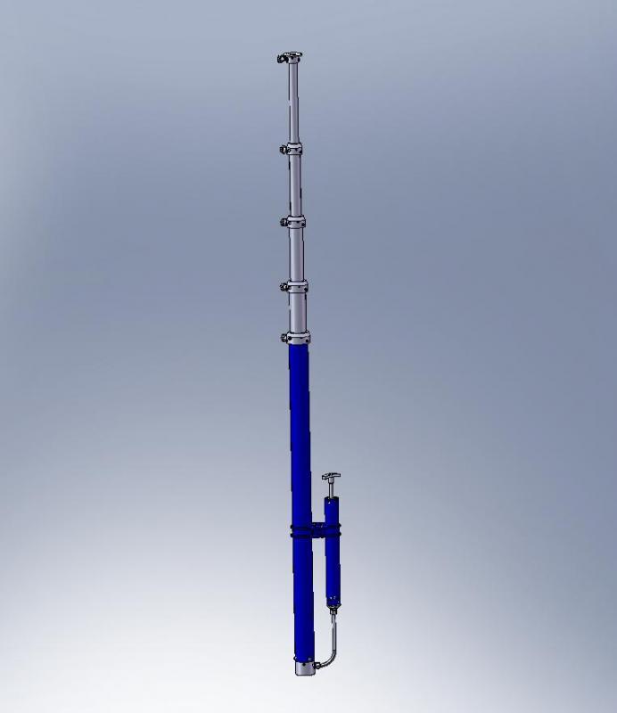 Телескопическая осветительная мачта М 12-36