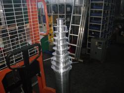 Мачта из десяти секций диаметром от 30 мм до 125 мм