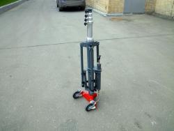 Для транспортировки мачты можно установить мобильную опору